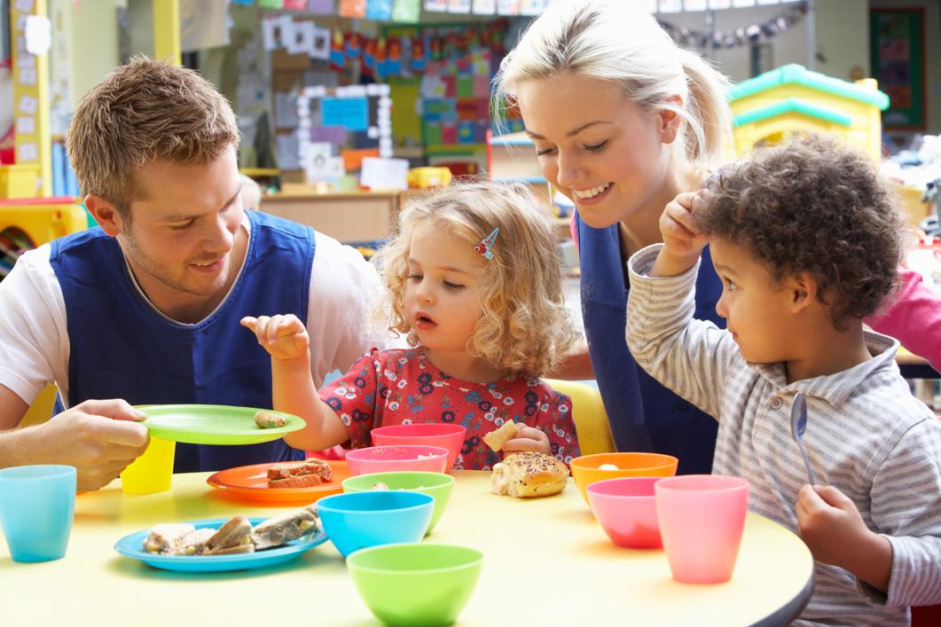 Nursery Children in Child Care Having Lunch